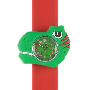 Trex close up c  3D animals Multi colour Easy to read Time teaching Children Boys Girls Cool watches Silicon Splash resistant Easy snap on wrist watches